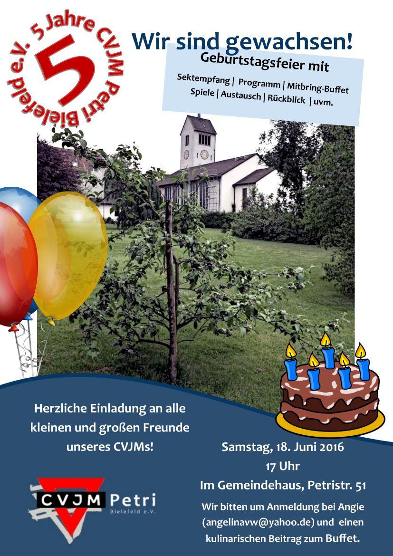 Einladung zum 5. Geburtstag